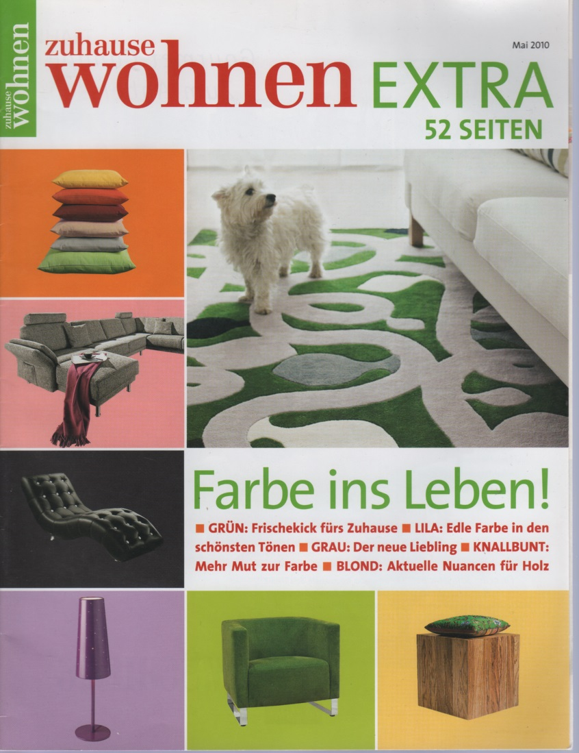 zuhause wohnen 5 2010 zeitschrift wohnung designe garten. Black Bedroom Furniture Sets. Home Design Ideas